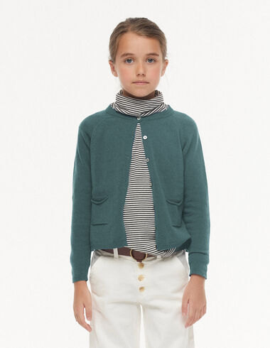 Green cardigan with buttons - View all > - Nícoli