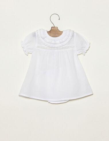 Robe blanche grand double col - Voir tout > - Nícoli