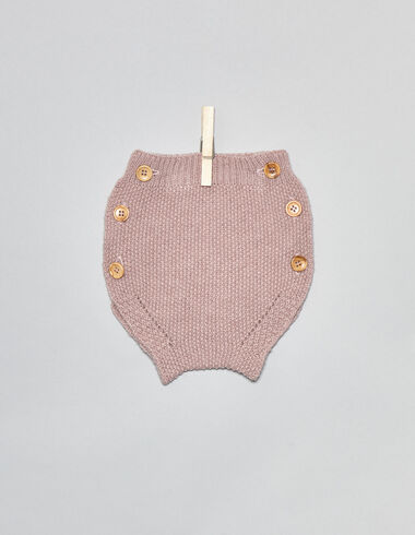 Pink baby bloomers with buttons - Bloomers - Nícoli