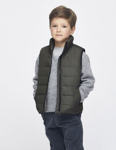Green padded vest - View all > - Nícoli