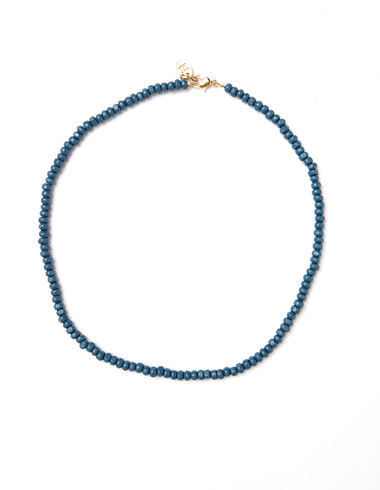 Blue bead short necklace - View all > - Nícoli