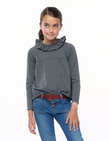 Grey ruffle T-shirt - New in - Nícoli