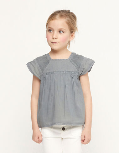Green top with pintucks - Spring Favourite Selection - Nícoli