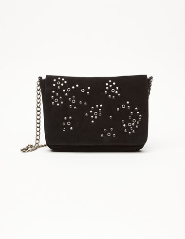 Black circle studs flap bag - Bags - Nícoli