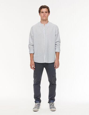 Pantalon chino poches anthracite - Pantalons - Nícoli