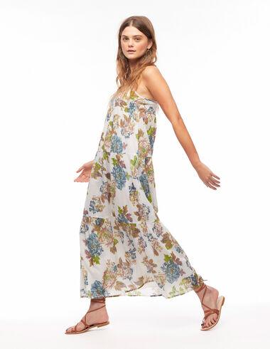 Robe longue grande fleur bleue - Your Summer Suitcase - Nícoli