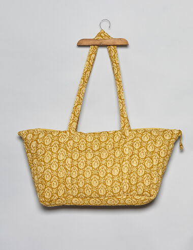 Mustard print bag with handles - Accesories - Nícoli