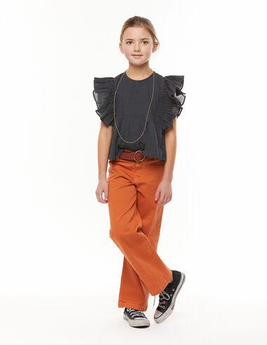 Orange wide-leg shorts - Denim - Nícoli