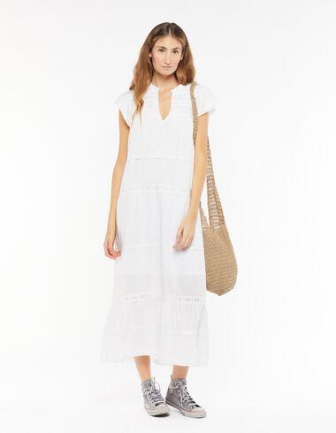 Long white lace dress - Dresses - Nícoli