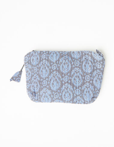 Blue print makeup bag - Accesories - Nícoli
