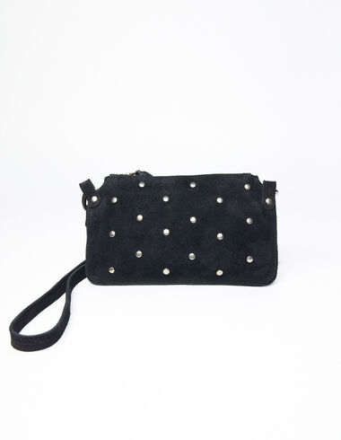 Bolso mini tachuelas redondas negro - New Girl's Print - Nícoli