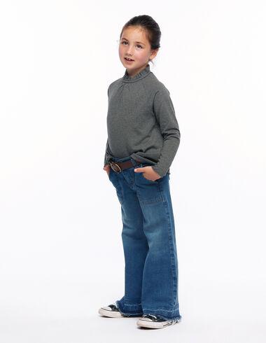 Pantalon wide leg poches bleu foncé - Denim guide - Nícoli