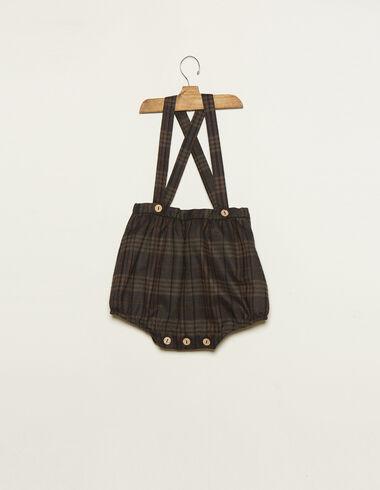 Pololo tirantes cuadro escocés marrón - Pololos - Nícoli