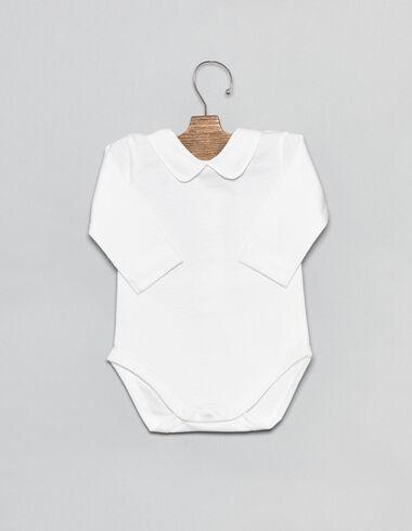 Body coton blanc col V pour bébés - Voir tout > - Nícoli