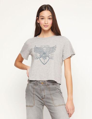 Camiseta solidaria 'águila' gris - Colección - Nícoli