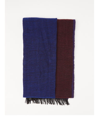 Two-tone blue scarf - View all > - Nícoli
