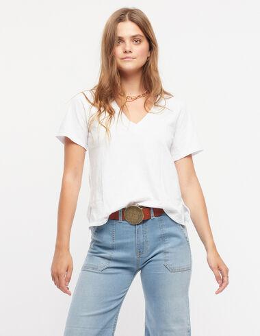 T-shirt col V blanc - Voir tout > - Nícoli
