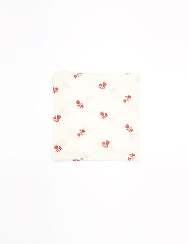 Foulard fleurs fraise - New Flower Print - Nícoli