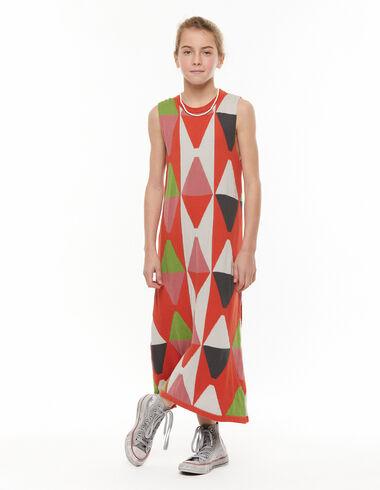 Orange diamonds long dress - View all > - Nícoli
