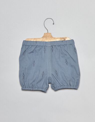 Blue herringbone baby bloomers - View all > - Nícoli