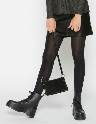 Girl's black leather skirt - View all > - Nícoli