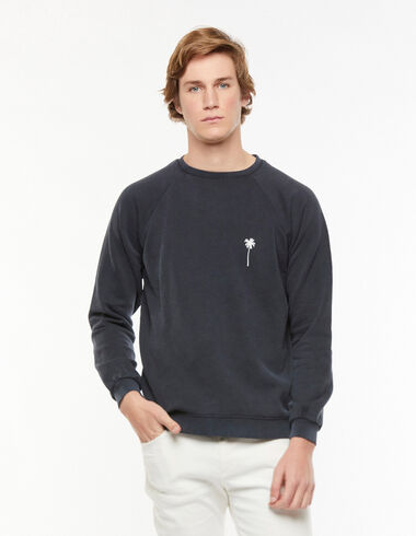 Anthracite palm tree sweatshirt - View all > - Nícoli