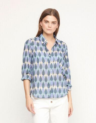 Camisa bolsillo gotas azul - Ver todo > - Nícoli