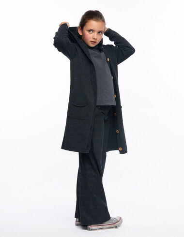 Chaqueta larga capucha antracita - Ropa de abrigo - Nícoli