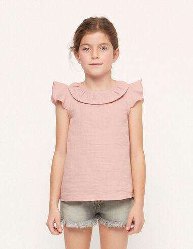 Pink ruffle collar shirt - Spring Favourite Selection - Nícoli
