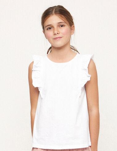 White neckline t-shirt - T-shirts - Nícoli