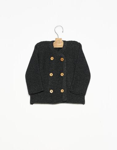 Abrigo botones antracita - Ver todo > - Nícoli