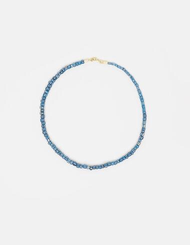 Striped blue/ecru beads necklace - View all > - Nícoli