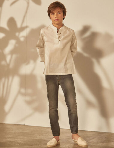 Boy's shirt with pockets - View all > - Nícoli