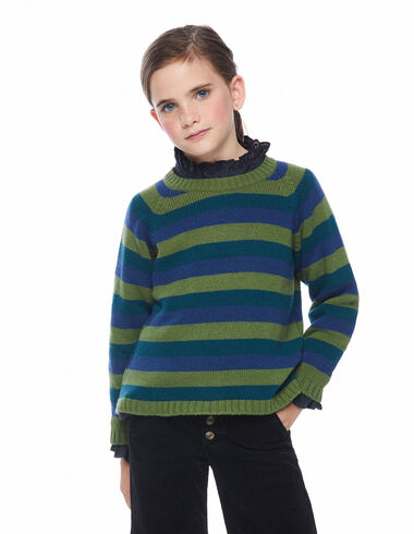 Blue and green striped jumper - The Striped Jumper - Nícoli