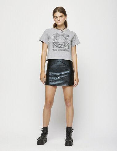 Falda metalizada negra - Special Looks - Nícoli