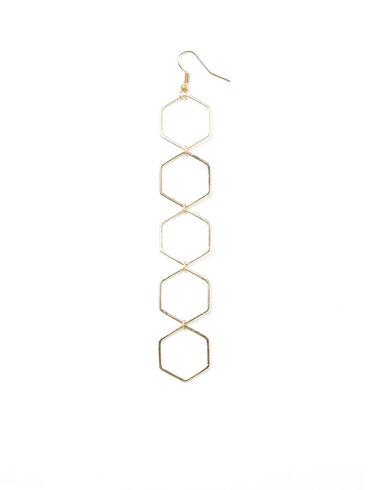 Large gold hexagons earrings - View all > - Nícoli