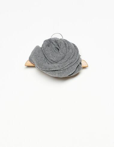 Grey openwork scarf - Scarves - Nícoli