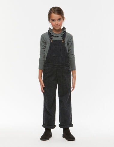 Anthracite corduroy baggy dungarees - Playsuits & Dungarees - Nícoli