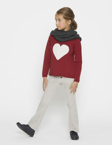 Girl's pullover red heart - View all > - Nícoli