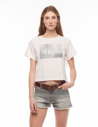 Pink palm tree t-shirt - Charity T-Shirts - Nícoli