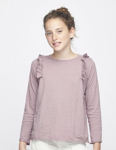 Camiseta volante hombro mora - Camisetas - Nícoli