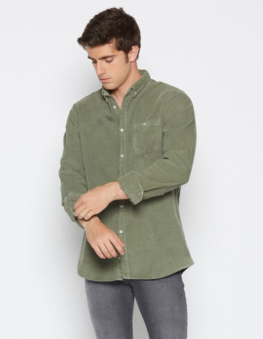 Boy's green fat corduroy shirt - Shirts - Nícoli