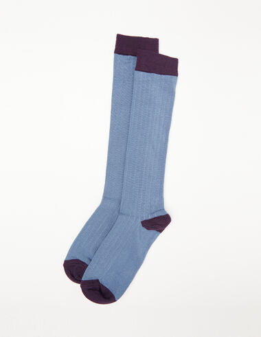 Blue and berry ribbed socks - View all > - Nícoli