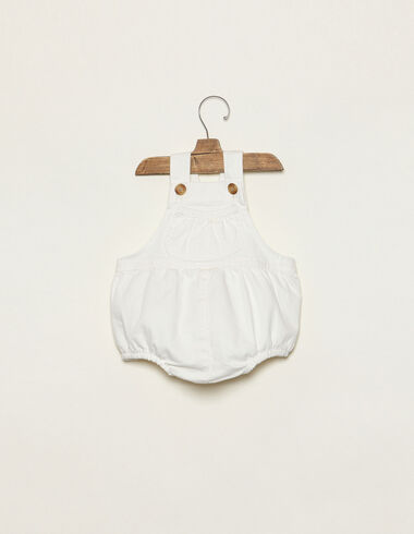 White romper with pocket - Rompers & Dungarees - Nícoli