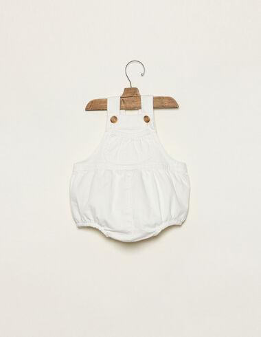 Barboteuse blanche à poche - Combinaisons et Salopettes - Nícoli