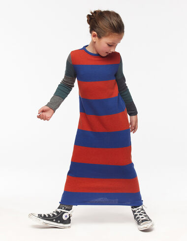 Blue and orange stripe long dress - View all > - Nícoli