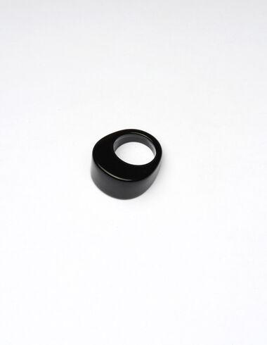 Bague ovale résine noire - More than Black Looks - Nícoli