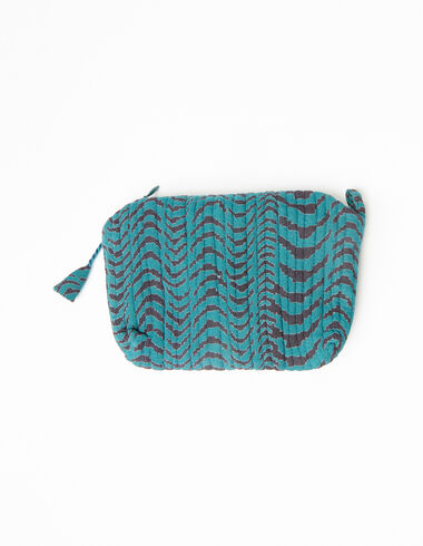 Green zebra print makeup bag - Accesories - Nícoli