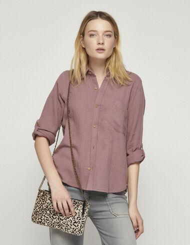 Camisa tela arrugada mora - Camisas y Tops - Nícoli