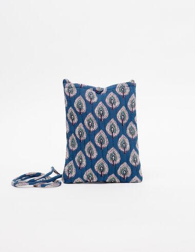 Sac bandoulière feuilles bleu - Sacs à bandoulière - Nícoli